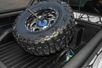 Truck Bed Spare Tire Carrier - White Bed