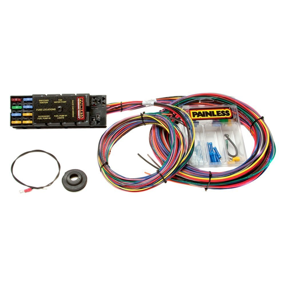 medium resolution of painless performance 10 circuit race only chassis harness