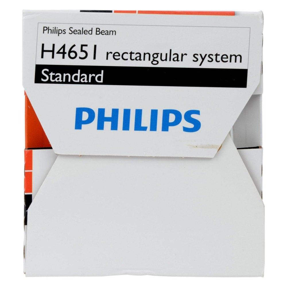 medium resolution of  4x6 rectangular chrome factory style sealed beam headlight