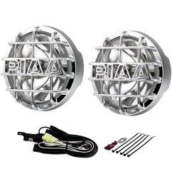 piaa 520 xtreme series smr 6 2x55w round chrome housing driving beam  [ 1000 x 1000 Pixel ]