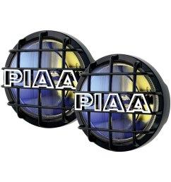 piaa 520 series 6 2x55w round fog beam yellow  [ 1000 x 1000 Pixel ]