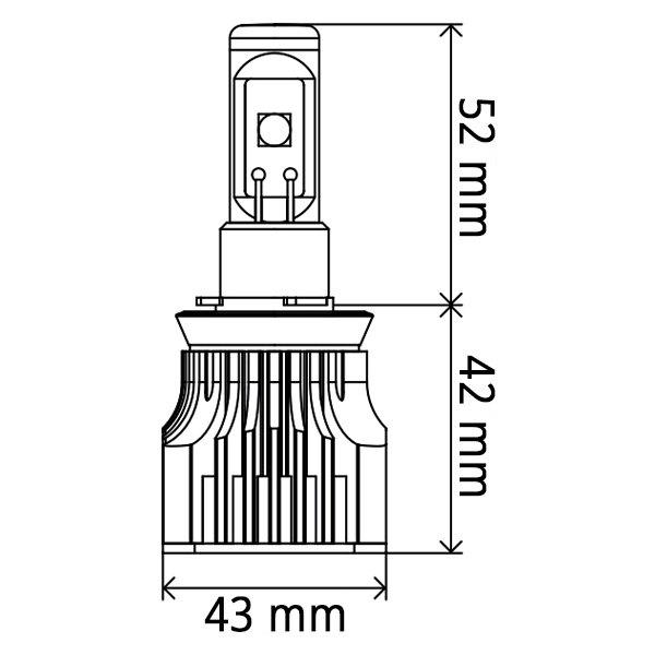 For Toyota Tacoma 97-15 PIAA G3 LED Conversion Kit H4