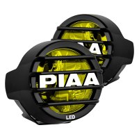 "PIAA 22-05370 - LP530 3.5"" Round Ion Yellow LED Fog Lights"