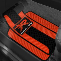 Plasticolor 001310R04 1st Row Red/Black Rubber Floor Mats