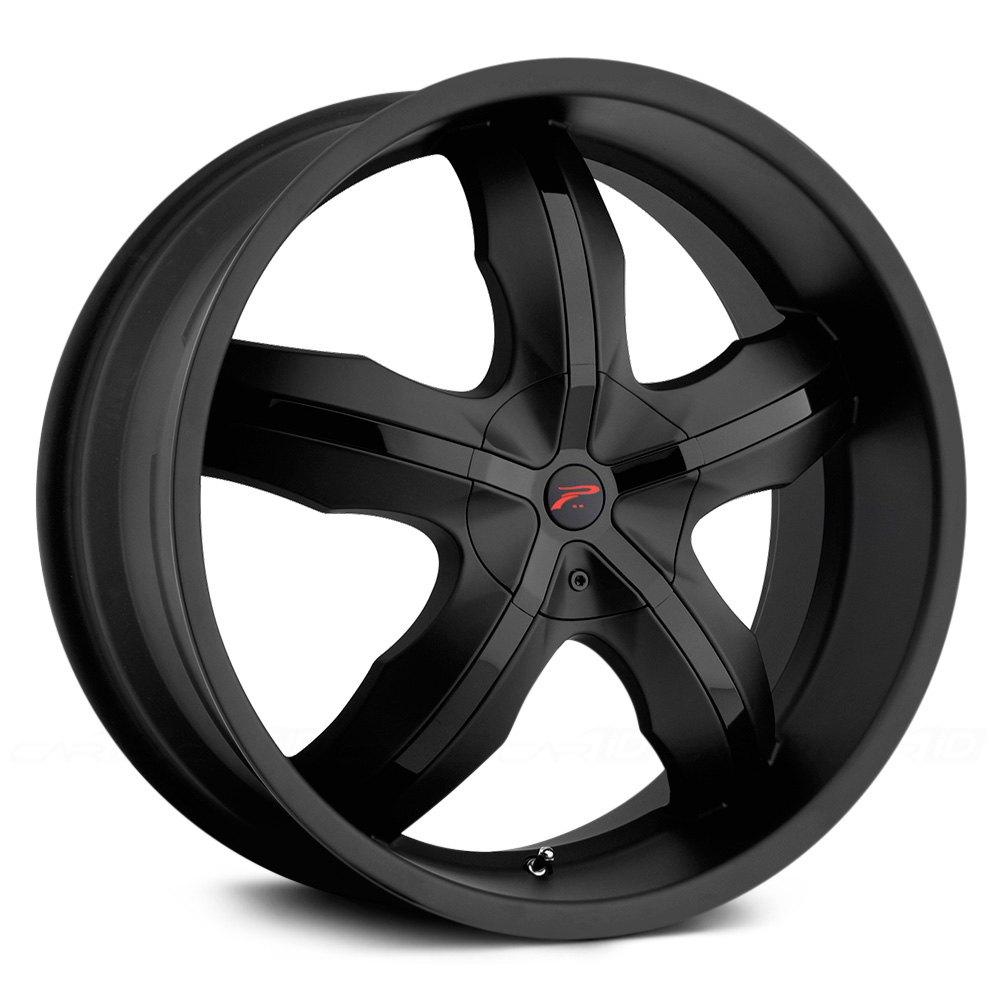 PLATINUM 212B WIDOW Wheels  Matte Black with Gloss Black