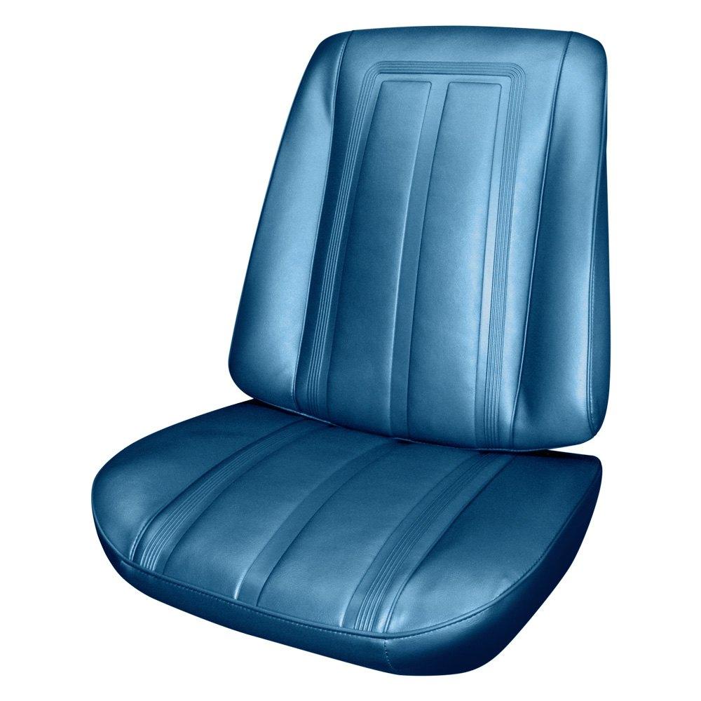 PUI Interiors 66XS14U  Front Bright Blue Madrid Grain