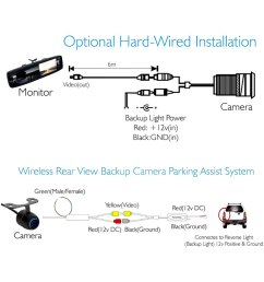 wireless rear view mirror with built in 4 3 touchscreen monitor and surface mount rear view camera [ 1000 x 1000 Pixel ]