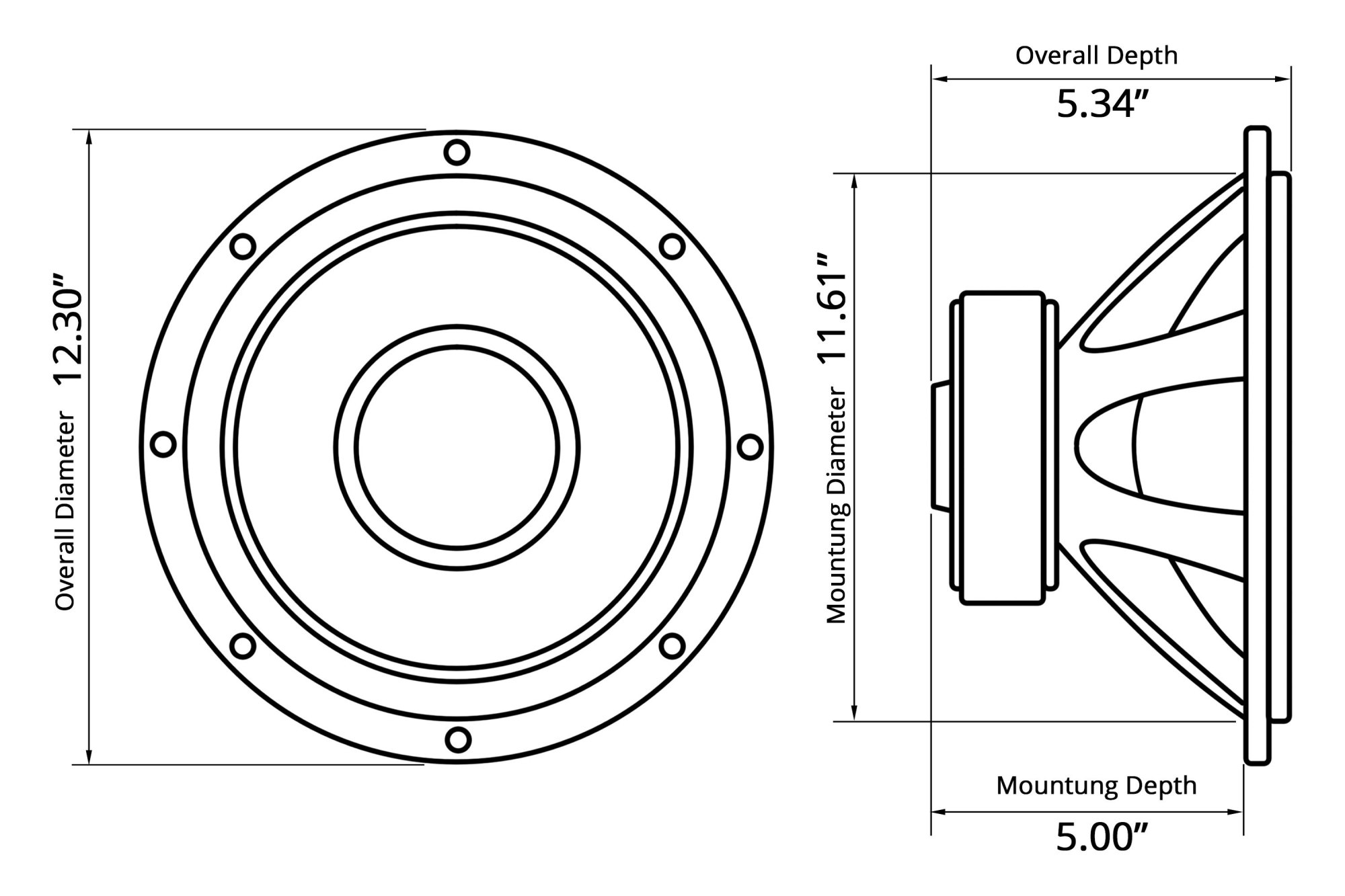 hight resolution of  12 red label series 800w 4 ohm svc subwoofer
