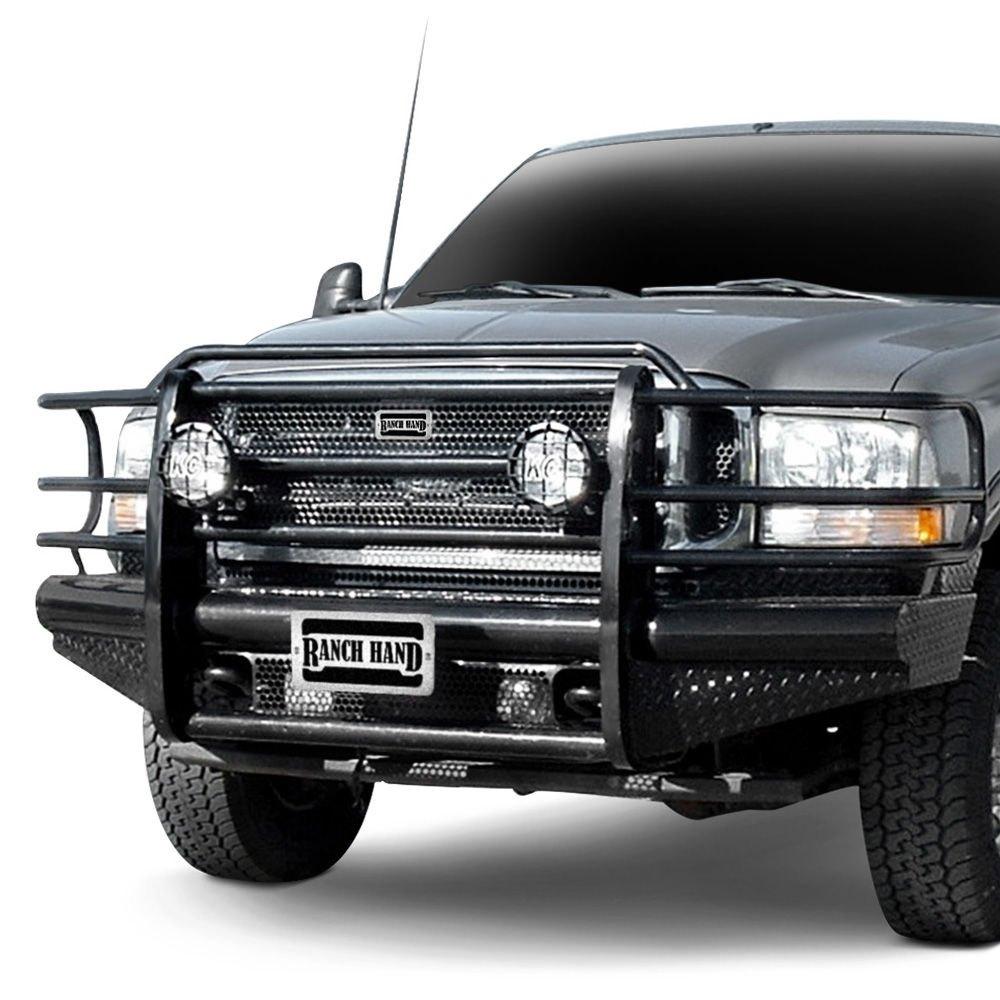 hight resolution of ranch hand legend series full width front hd black powder coat bumper