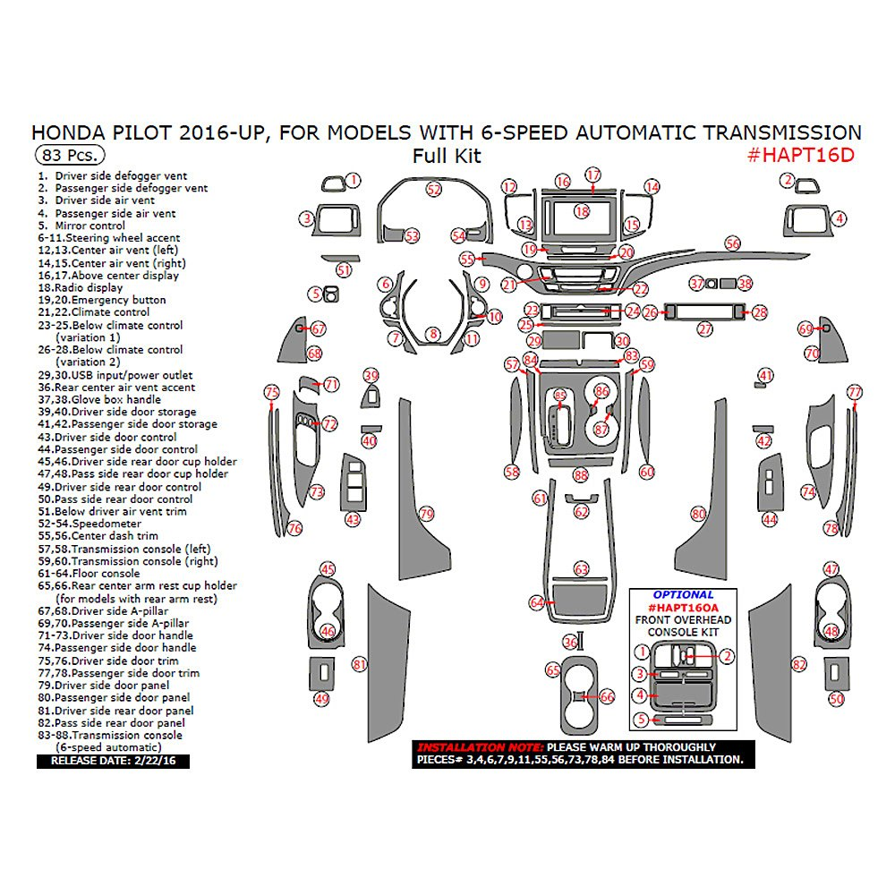 Honda Pilot Accessories Performance Parts