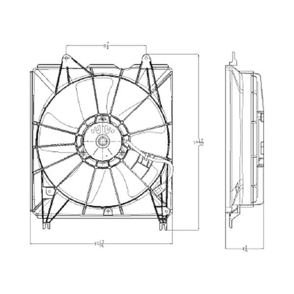 For Acura RDX 2007-2008 Replace Radiator Fan Assembly