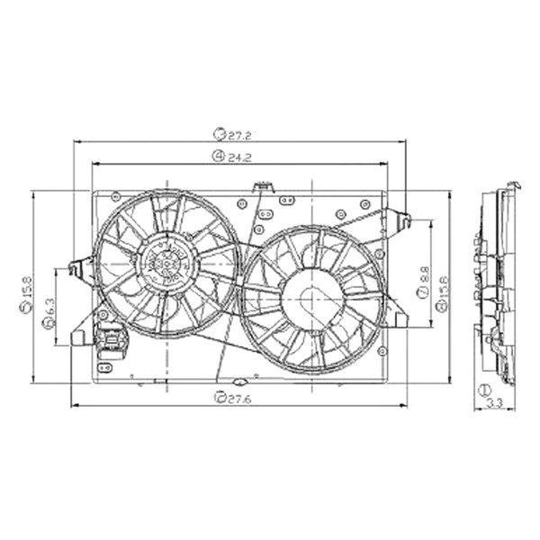 Ford contour dual electric fan