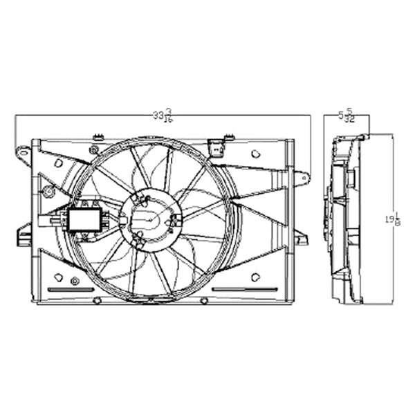 For Ford Taurus 2008-2012 Replace Radiator Fan Assembly