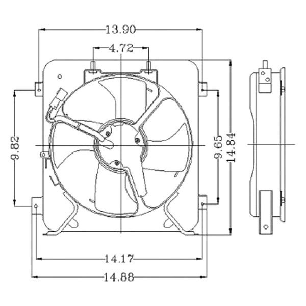 Honda Civic 1996-1998 Replace A/C Condenser Fan Assembly