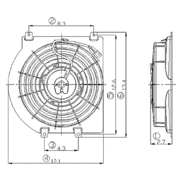 For Isuzu Rodeo 1998-2003 Replace IZ3113101 A/C Condenser