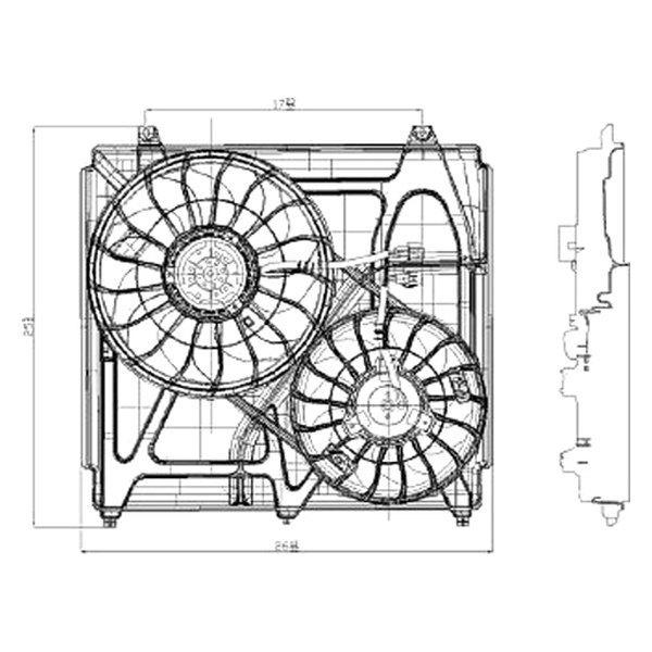 For Kia Sorento 2003-2006 Replace Radiator Fan Assembly