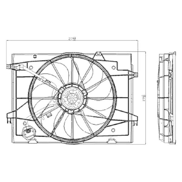 For Kia Sportage 2005-2010 Replace KI3115115 Radiator Fan