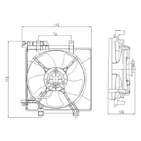 For Subaru Legacy 2005-2009 Replace SU3115115 Radiator Fan