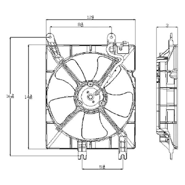 For Suzuki Forenza 2004-2008 Replace A/C Condenser Fan