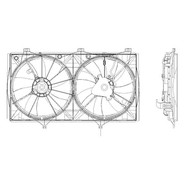 For Toyota Camry 2007-2009 Replace Engine Cooling Fan
