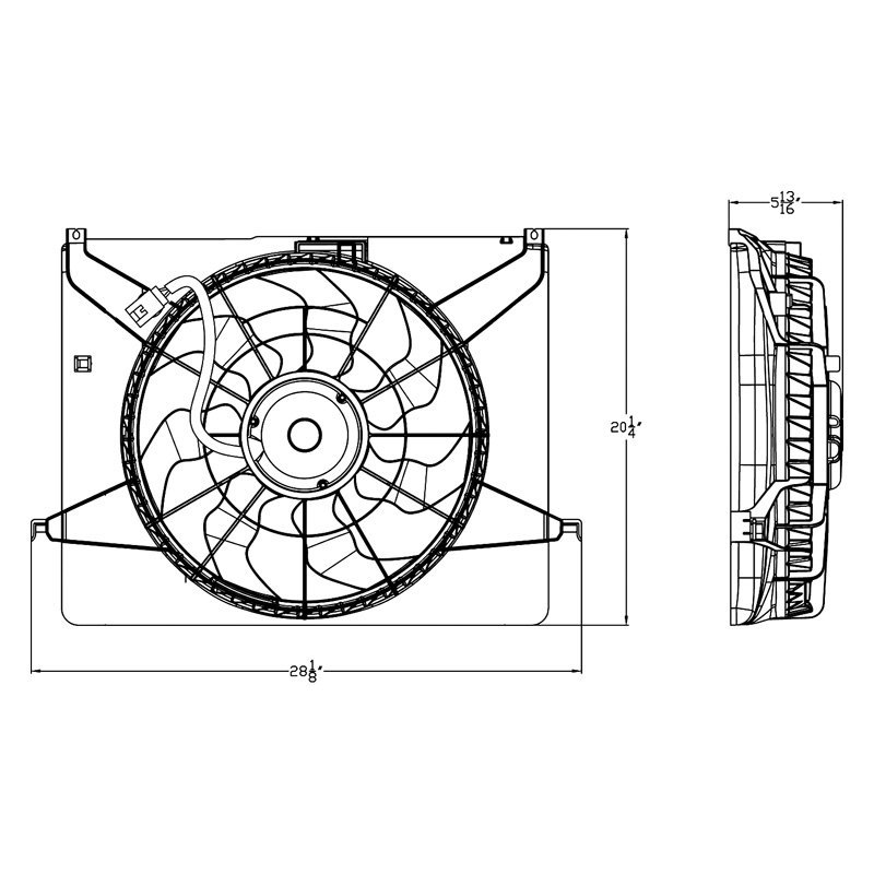 For Hyundai Sonata 2009-2010 Replace Engine Cooling Fan