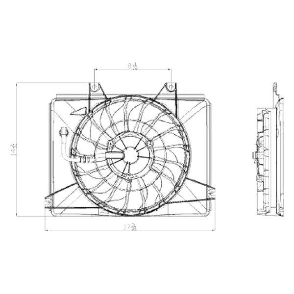 For Kia Sedona 2002-2005 Replace A/C Condenser Fan