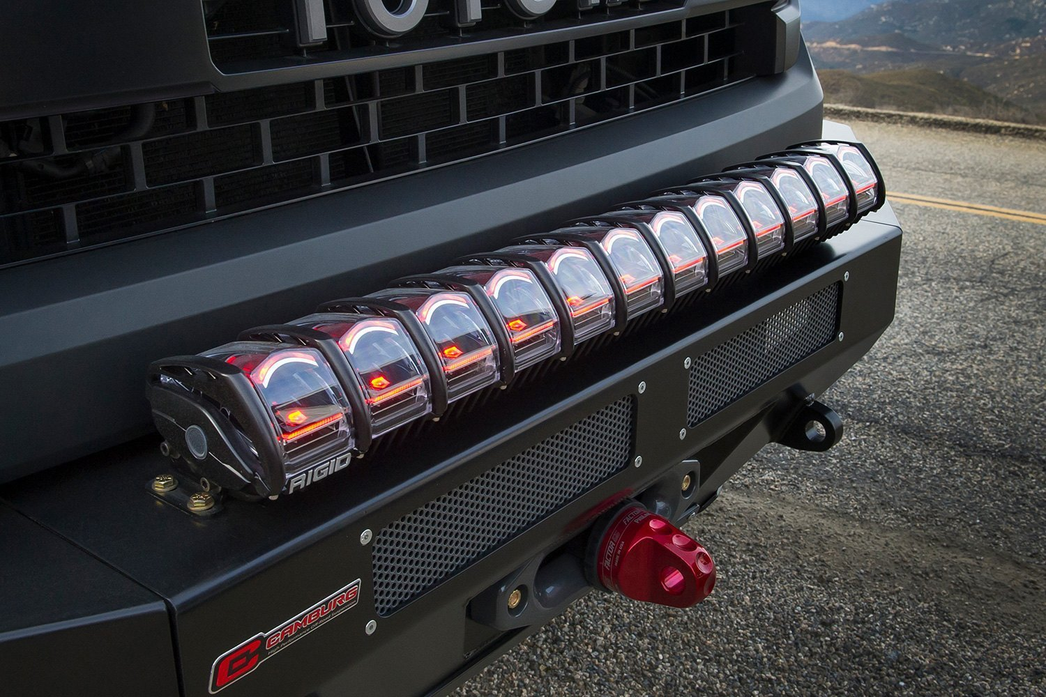 hight resolution of  installed rigid industries adapt sae led light bar
