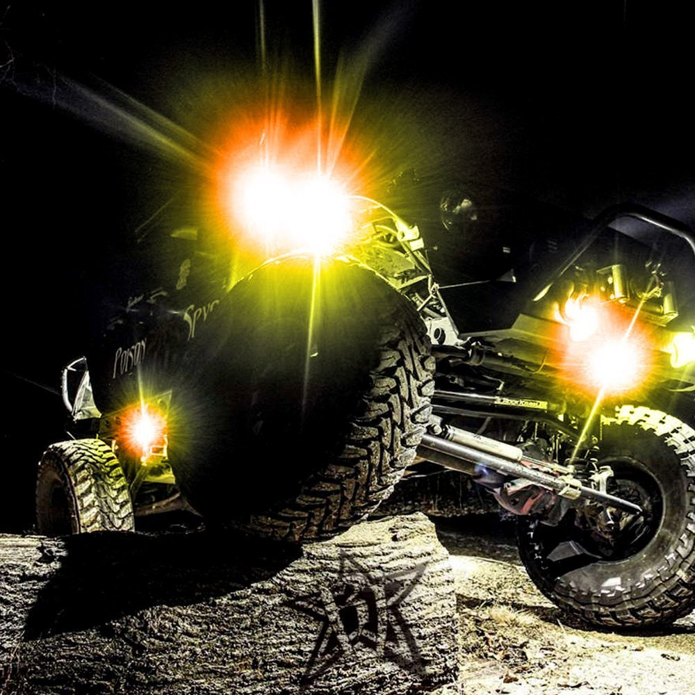 hight resolution of rigid industries a series led rock light kit rigid lights jeep rigid rock light wire diagram lights