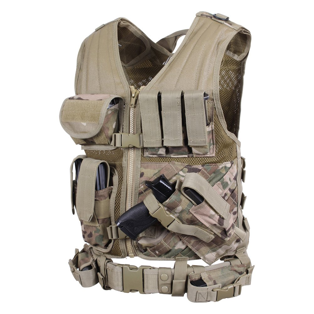 Rothco® 6384 - MultiCam Cross Draw MOLLE Tactical Vest Regular Size