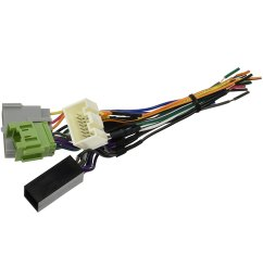 scosche aftermarket radio wiring harness with oem plug [ 1500 x 1500 Pixel ]