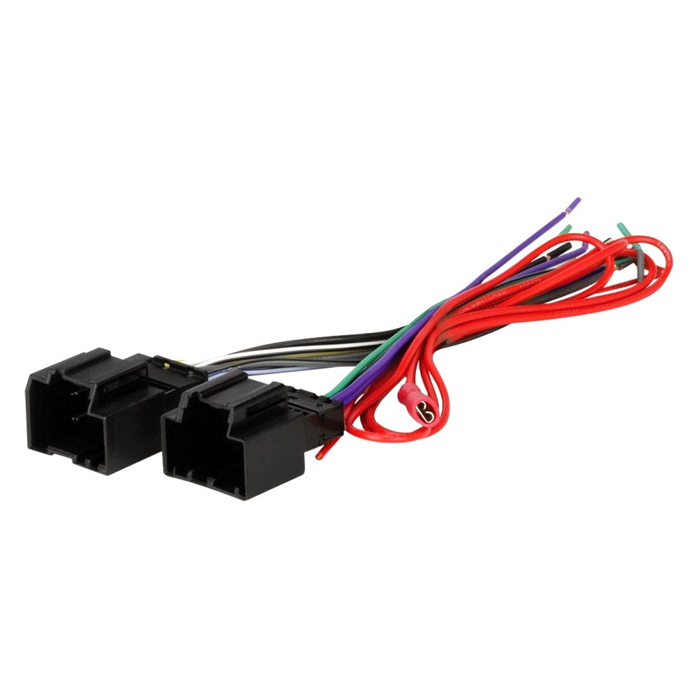medium resolution of scosche aftermarket radio wiring harness with oem plug provides fly out lead