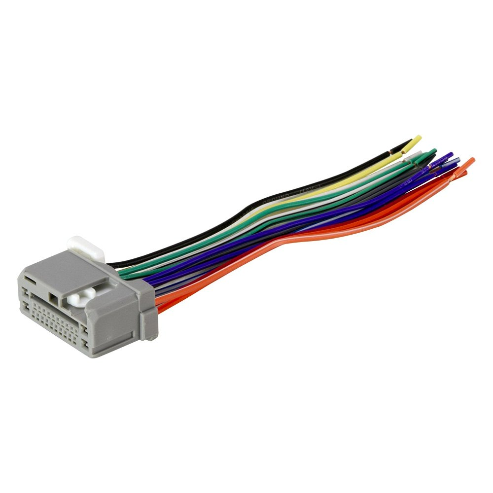 hight resolution of scosche factory replacement wiring harness with oem radio plug