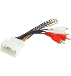 scosche aftermarket radio wiring harness with oem plug and retain oe amplifier [ 1500 x 1500 Pixel ]