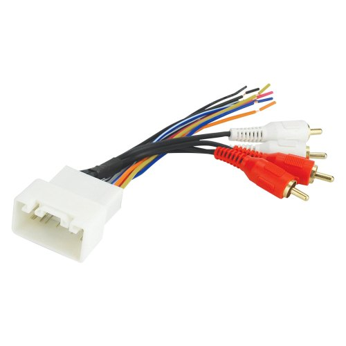 small resolution of scosche aftermarket radio wiring harness with oem plug and retain oe amplifier
