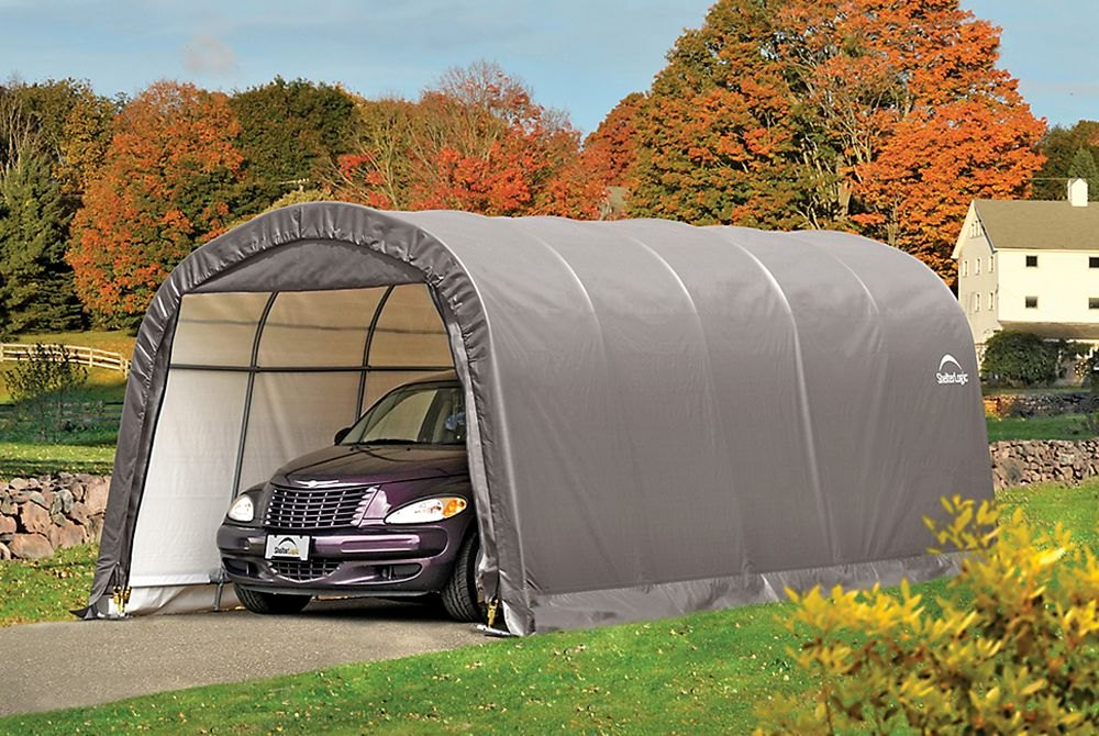 ShelterLogic 62780  GarageinaBox RoundTop Shelter
