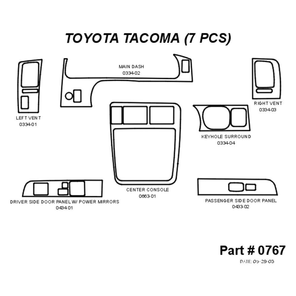 For Toyota Tacoma 98-04 Sherwood 2D Walnut Burl Wood