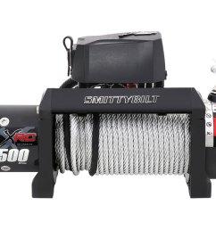 smittybilt 97495 9 500 lbs xrc gen 2 series winch w steel cable [ 1500 x 1000 Pixel ]