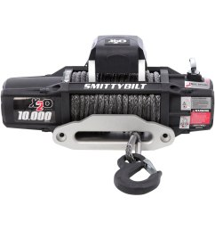 smittybilt winch with synthetic rope and aluminum fairlead [ 1500 x 1500 Pixel ]