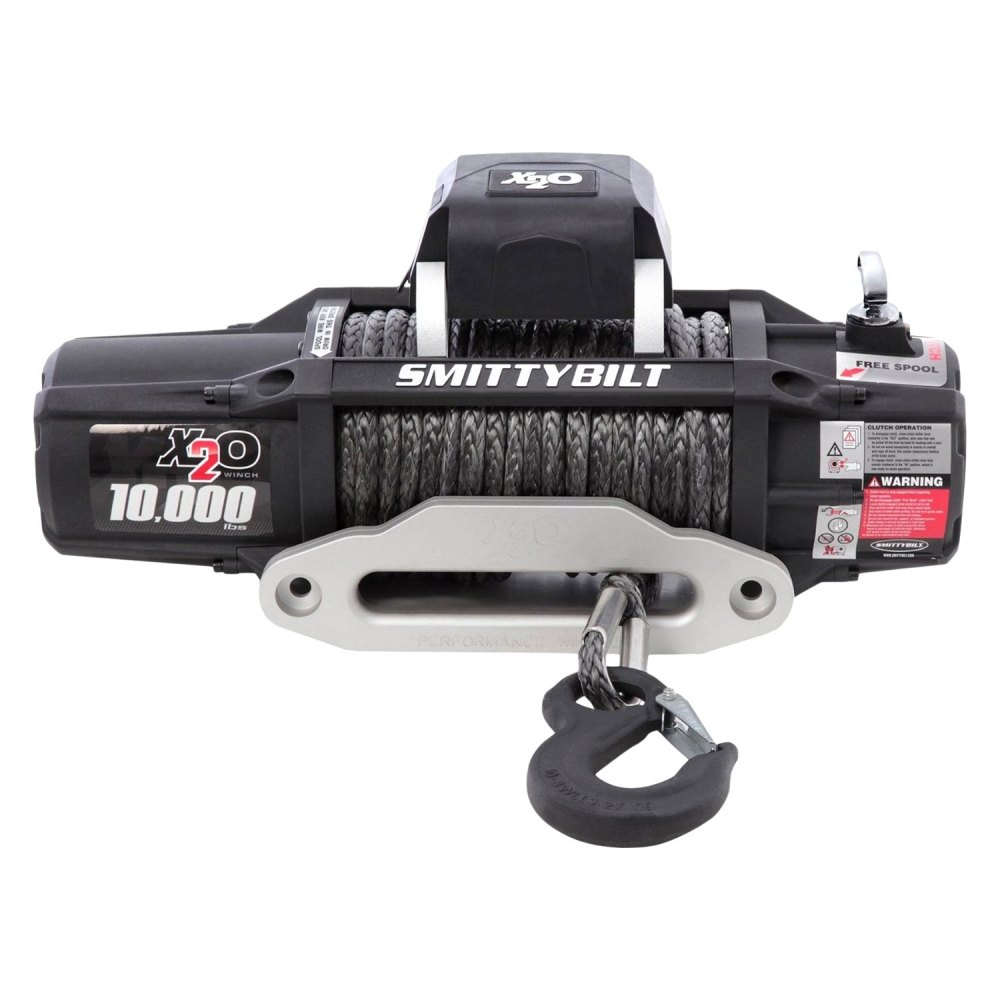 medium resolution of smittybilt winch with synthetic rope and aluminum fairlead