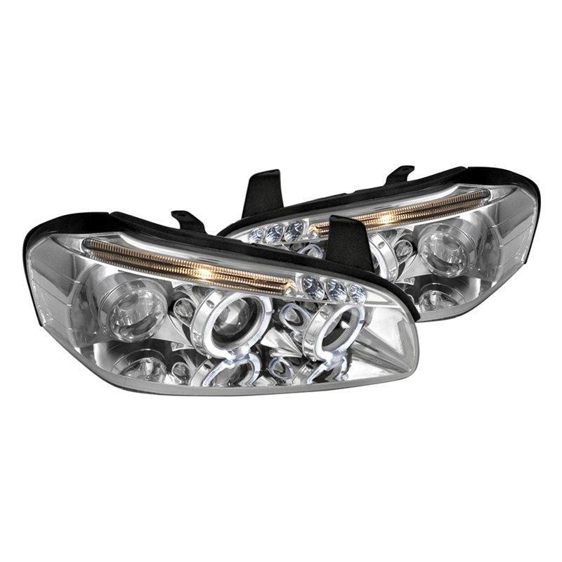 Tm Nissan Maxima 2000 Chrome Halo Projector Headlights With Leds