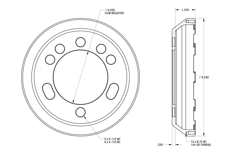 Spidertrax Aluminum Brake Rotor Hat