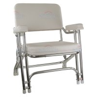 Springfield Marine 1080021 - White Folding Deck Chair