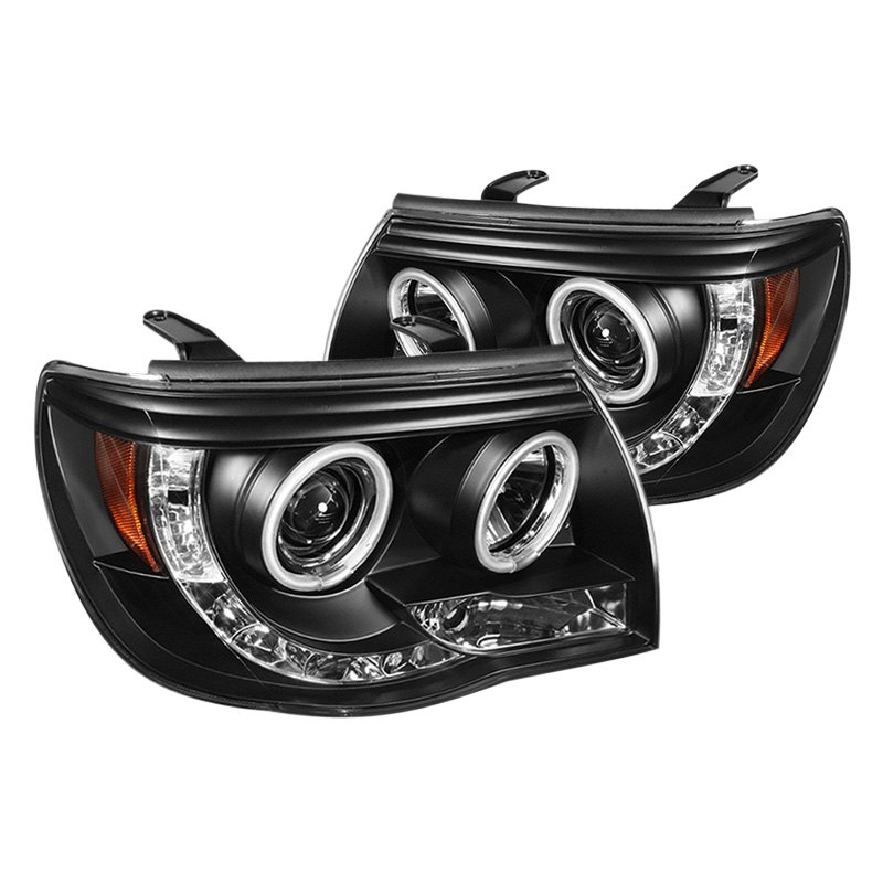 Spyderr Black Halo Projector Headlights With Leds