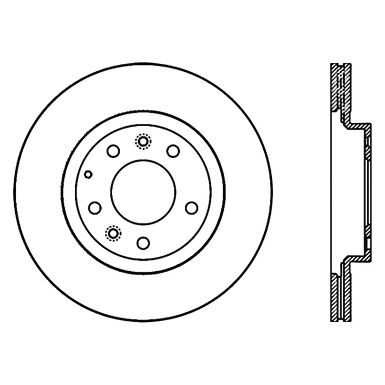 For Mazda Mx 5 Miata 06 15 Stoptech Premium Vented Front