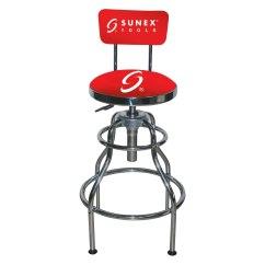Garage Chair With Wheels Desk Casters Sunex 8516 Hydraulic Shop Stool