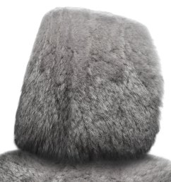 superlamb tailor made sheepskin steel gray headrest covers [ 1000 x 1000 Pixel ]