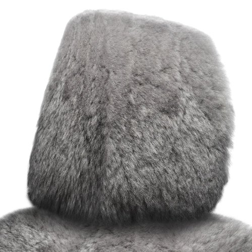 small resolution of superlamb tailor made sheepskin steel gray headrest covers