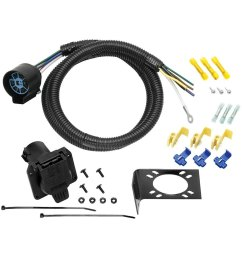 tow ready 20224 4 7 way u s car trailer wiring harness rh carid com tow ready 7 way wiring diagram towed vehicle wiring [ 1000 x 1000 Pixel ]