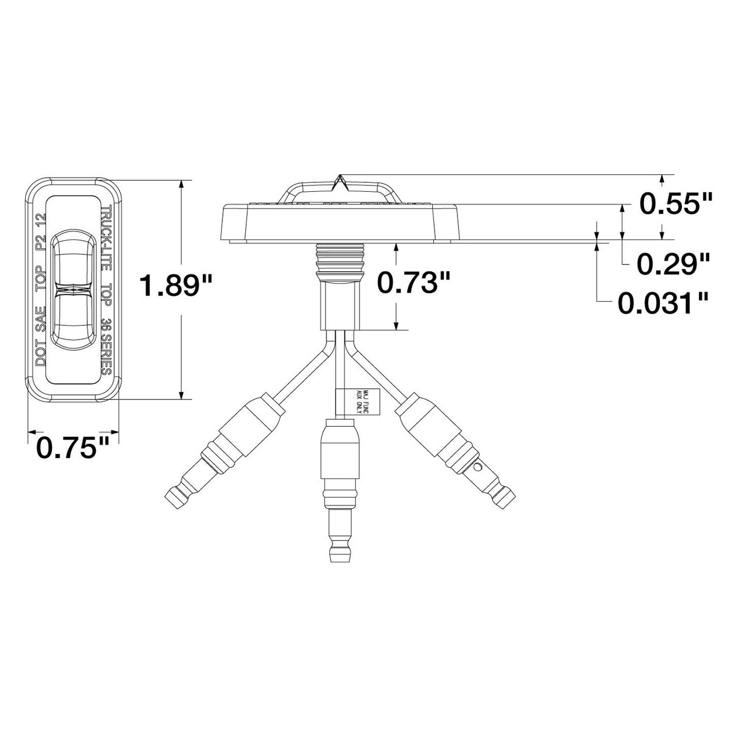flex a lite wiring diagram diagrams for 3 way switches truck 36203y 36 series dual function
