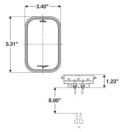 lighttruck lite 45 series 3 x5 rectangular grommet mount led tail light [ 1500 x 1500 Pixel ]